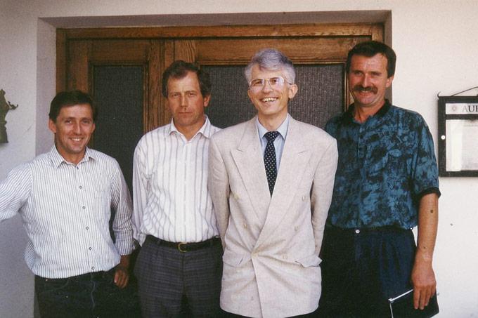 v.l.n.r.: Lorenz Reich, Georg Breitner, Notar von Steinäcker, Max Weichenrieder